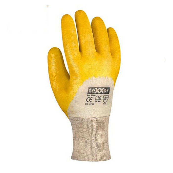 Nitrile rubber five-finger glove 03400