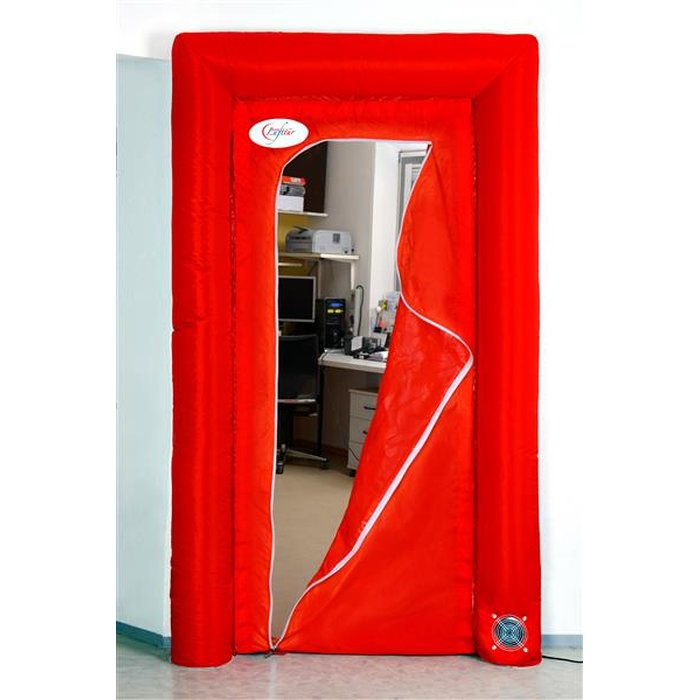 flesta air door, self-inflatable dust protection door - ready to use in 10 seconds!
