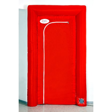 flesta air door, self-inflatable dust protection door -...