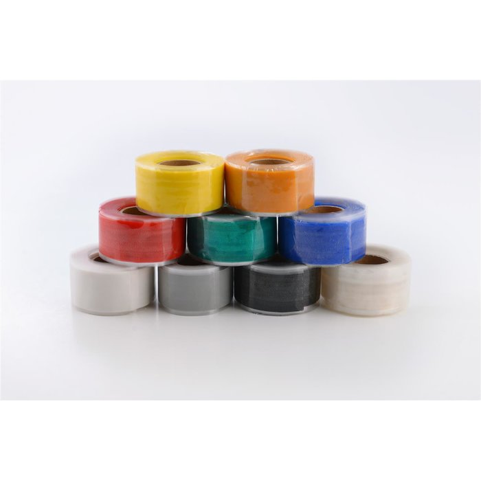 BlitzTape EXTRA-WIDE in colour BLACK, 50 mm x 3 m x 0,5 mm universal self-amalgamating silicone tape repair tape sealing tape
