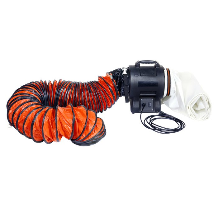 Exhaust hose Ø 250 mm (10) incl. lashing strap, 5 m long, for air blower
