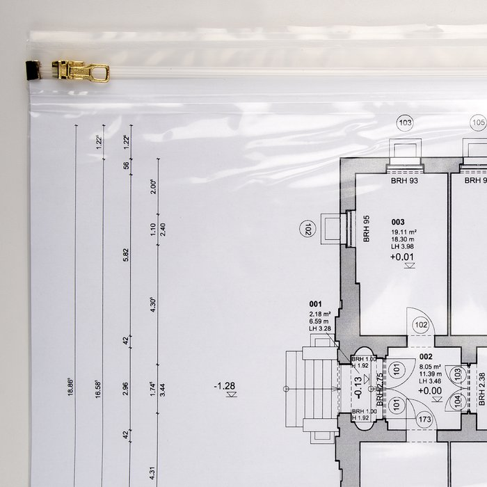 Blueprint sleeve DIN A2 480 x 640 mm 10-pack
