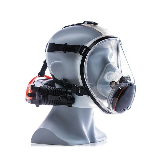 Cleanspace ULTRA positive pressure air filtering mask P3 TM3, IP Rating 66 (water tolerance)