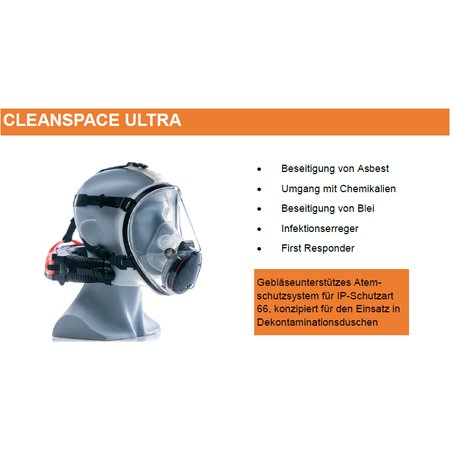 Cleanspace ULTRA positive pressure air filtering mask P3...