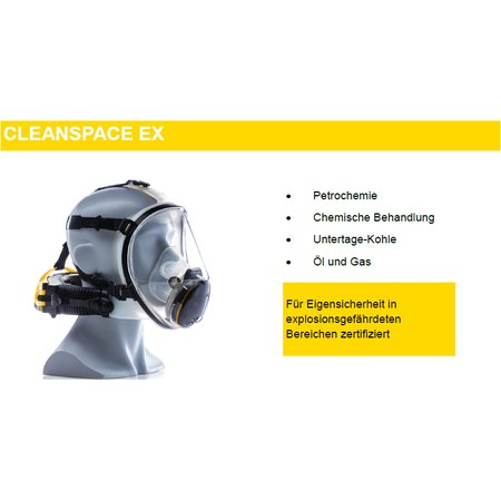 Cleanspace EX positive pressure air filtering mask P3...