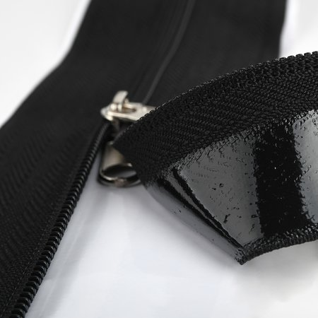 Self-adhesive zipper, 7,6 x 210 cm, black