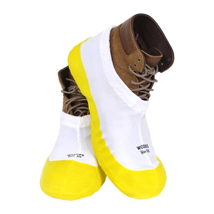 Professional shoe covers size 45-48 (UK 10 - 13 / USA 11 - 14), yellow autoclavable
