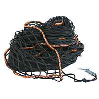 Securing cargo container nets